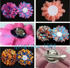 3pcs fashion flower for girls women's clothing/ hair clips Hairpin accessories H