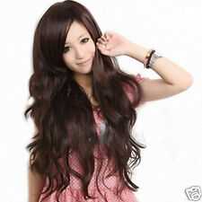 Korean style ladies oblique bangs long hair fluffy hair wig cap MO_CA1118