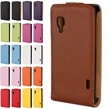 Genuine Luxury Real Leather vertical Flip Case For LG Optimus L5 II E450 E460