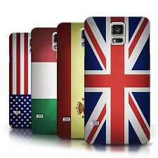 Phone Case Hard Back Cover for Samsung Galaxy Smartphone S3 S4 S5 Country Flags