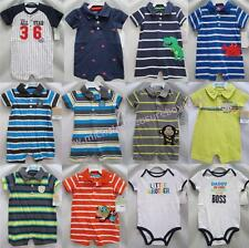 NWT boys Carter's romper 1pc short-all outfit body suit NB 3m 6m 9m 12m 18m 24m