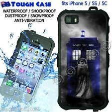 TOUGH Waterproof CASE COVER iPhone 5 5S 5C Doctor WHO Blue Tardis Abstract DR11