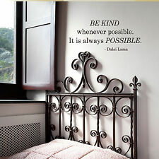 BE KIND whenever possible... - Dalai Lama - Wall Quote Decals