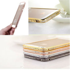 Luxury Crystal Rhinestone Diamond Bling Metal Bumper Case Cover For iPhone 5 5S