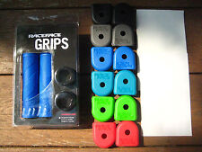 BLUE   RaceFace Sniper Grips with Lock-on Clamps  +  Crank Ends  +  Crankskins