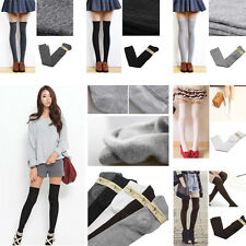 Girl Long Over The Knee Cotton Socks Thigh High Soft Cotton Stockings 5 Colors