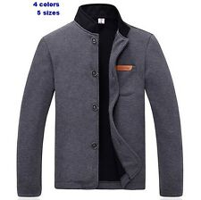 2014 New Men's Jacket Slim Collar Coat Overcoat Winter Warm Casual Outwear