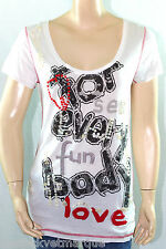 DESIGUAL tee shirt tunique CORFU BLANCO blanc femme Taille L 41T2490 col 1000