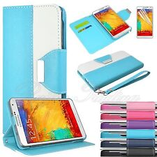 Flip Hybrid Leather Wallet Case Stand Cover For Samsung Galaxy Note 3 III N9000