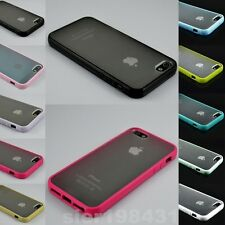 New TPU Bumper Frame With Matte Clear Hard Back Skin Case Cover for iPhone 5 5S