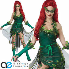 ADULT LADIES LETHAL BEAUTY FANCY DRESS COSTUME POISON IVY HALLOWEEN OUTFIT