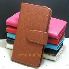 Litchi Line Card slots flip PU leather case cover for Sony Xperia U ST25i