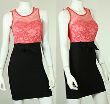 New Cool Beautiful Sexy Ladies Party Prom Evening Bodycon Lace/Bow tie dress