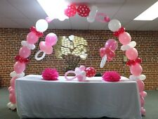 See Video - Link-O-Loon Baby Shower Pacifier Balloon Arch Kit Do it Yourself DIY
