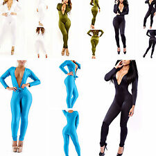 Fashion Womens Evening Party V-Neck Bodycon Stretch Jumpsuits Playsuits Clubwear