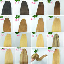 "Remy 20""22""L 30g-100g 100% Real Human Hair Straight Weaving Weft Hair Extensions"