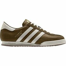 New Adidas Originals Beckenbauer Brown/ Cream Suede Trainers