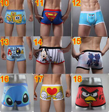 new hot Sport Sexy Cotton Boxer Man Cartoon Underwear Mens Brief Cute Size L/XL