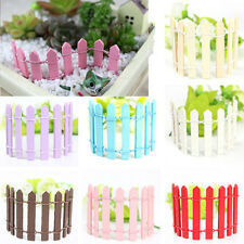 1~10pc Cute Potted Decor Furnishings Garden Lattice Wood Fence Toy 4 inch New