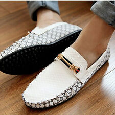 Hot Sale Men's Comfy Leather Leisure Slip On Loafer Shoe Moccasins Driving Shoes