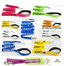 Strong Heavy Duty Nylon Short Standard & Extra Long Nylon Leads+Pet Dog Collars