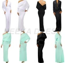 FORMAL EVENING MULTI WAY REVERSIBLE PLUNGING CONVERTIBLE MAXI DRESS S TO 3XL