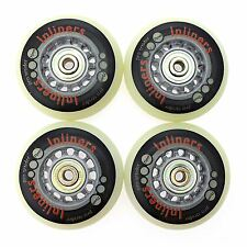 SUPER HIGH REBOUND INLINE WHEELS 72MM X 24MM 78A SKATES FOR ALL SKATING SURFACES