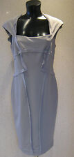 HOLLY WILLOUGHBY Grey Ribbed Pencil Wiggle Dress Size 8 10  14  BNWT