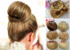 Elegant Ladies Bun Clip in Hair Piece Extension~Bride Wedding Party Beauty Pick
