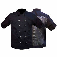 Chef Jacket /Jackets Chef Clothing Uniform Mesh Back Black Half Sleeves QUALITY
