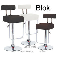 "NEW! MODERN ""LEATHER"" BAR/COUNTER STOOL ADJUSTABLE HEIGHT - BARSTOOL SEAT - BLOK"
