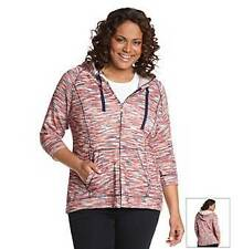 NEW - One World Live & Let Live -  3/4 Sleeve Marled Zip Up Hoodie