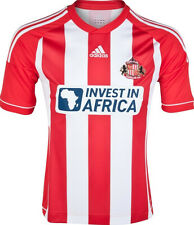 SUNDERLAND AFC 2012/13 ADIDAS HOME RED/WHITE S/S FOOTBALL SOCCER SHIRT JERSEY