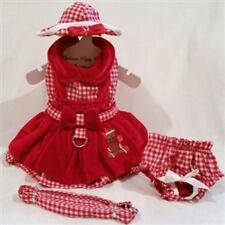 Gingerbread Girl Dog Dress 4 Pc Set with Hat, Panties, & Leash XS, S, M, L