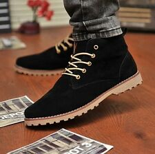 British Men's Casual Suede Lace Ankle Boots High Top Loafers Sneakers Shoes C154