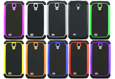 Hybrid Rugged Impact Rubber Matte Hard Case Cover For Samsung Galaxy S 4 i9500