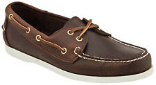 Island Surf Mens Dixon Boat Shoes Brown Leather NIB