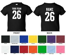 Custom Personalized Your Text, Name, Number STRAIGHT TEXT Sports Toddler T-shirt