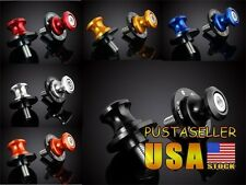 US Ship 2pcs 8MM 6 Color Motorcycle Swingarm Sliders Spools For Suzuki all Years