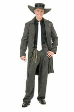 ZOOT SUIT 1920S GANGSTER FANCY DRESS COSTUME BLACK AND WHITE PLUS SIZE