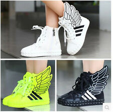 2014 autumn shoes high fashion angel wings children help canvas shoes sneakers