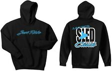 JUST RIDE SLED CHICK HOODIE SHIRT SNOW MOBILE SKI DOO ARCTIC CAT YAMAHA POLAR