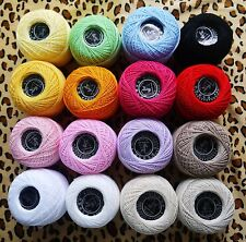 HIGH QUALITY 100% cotton fine lace yarn for hand crochet 16 colors 50g/ball