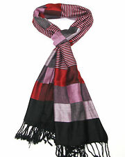 Womens Scarf Beautiful Checked Scarf - Ladies Striped - Womens Check Pashmina