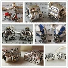 925 Sterling Silver Happy Holiday Traveling Bead Fits European Charm Bracelet