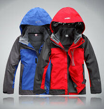 Kids Outdoor Winter Warm Outerwear Jacket Fleece Liner Waterproof Boys Snowsuit