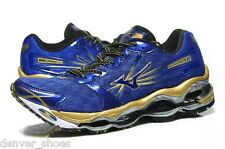 AUTHENTIC Mizuno Wave Prophecy 2 Mens NEW Running Shoes  Blue Gold 8KN 316101