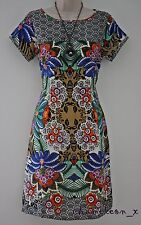 Ex White Stuff Summer Tropical Floral Shift Dress/ Tunic Size 10-12