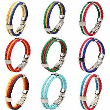National Flags Souvenir Edition Leather Rope 2014 World Cup Bracelets,1Pc