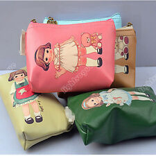 New Lady Girl's Doll Canvas Case Coin Card Key Purse Wallet Zipper Bag Pouch 892